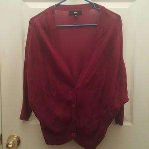 Dark purple cardigan